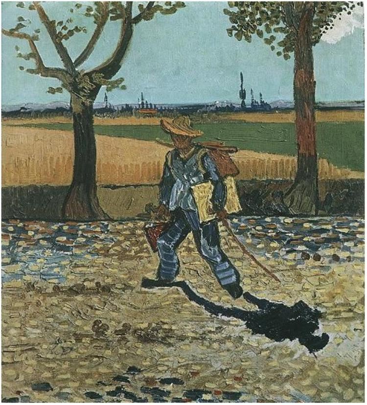 El pintor su camino al trabajo
